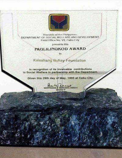 May 29, 1995 - Paglilingkod Award
