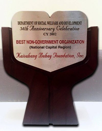 2002 - Best-NGO-in-NCR