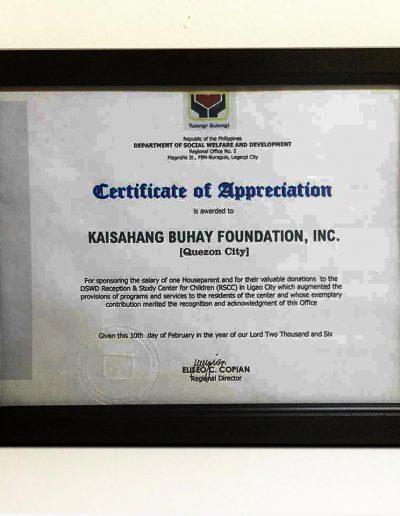 February-10,-2006 - Certificate-of-Appreciation