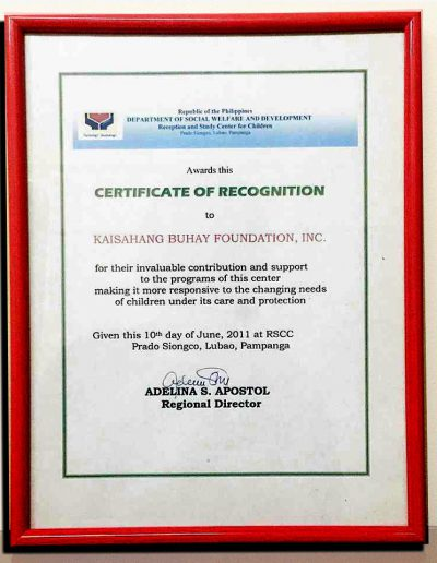 June 10, 2011 - Certificate-of-Recognition