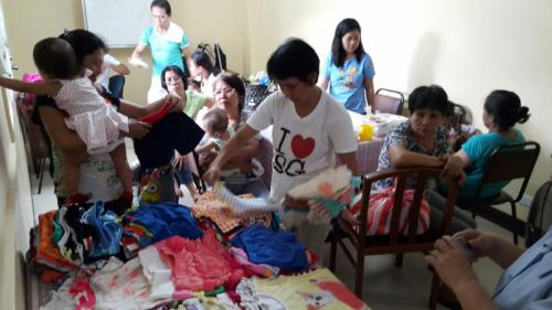 Foster families at KBF office for the supplies of their foster children